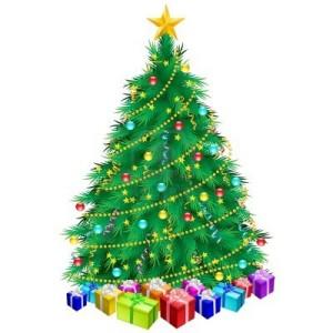 10259588-weihnachtsbaum-und-geschenke-illustration-auf-weissem-hintergrund